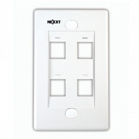 PLACA PARA DATOS 4 PUERTOS COLOR BLANCO NEXXT