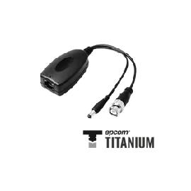 TT101PVT Video + Poder: 300 m. Transmisor pasivo de video + alimentación de 1 canal 12Vcd, 1A.